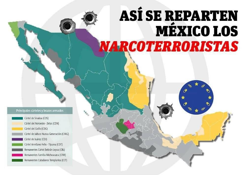 así se reparten México los narcoterroristas