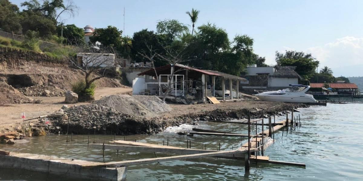 Denuncian construcción ilegal de club vacacional en Lago de Tequesquitengo