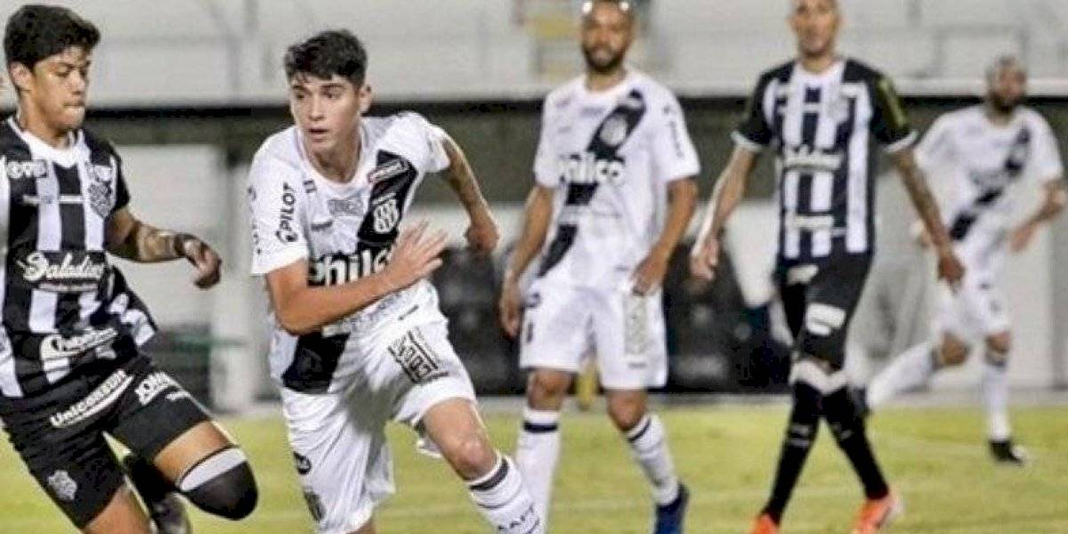 De tiro libre y a cobrar: Ángelo Araos marcó su primer gol en goleada de Ponte Preta