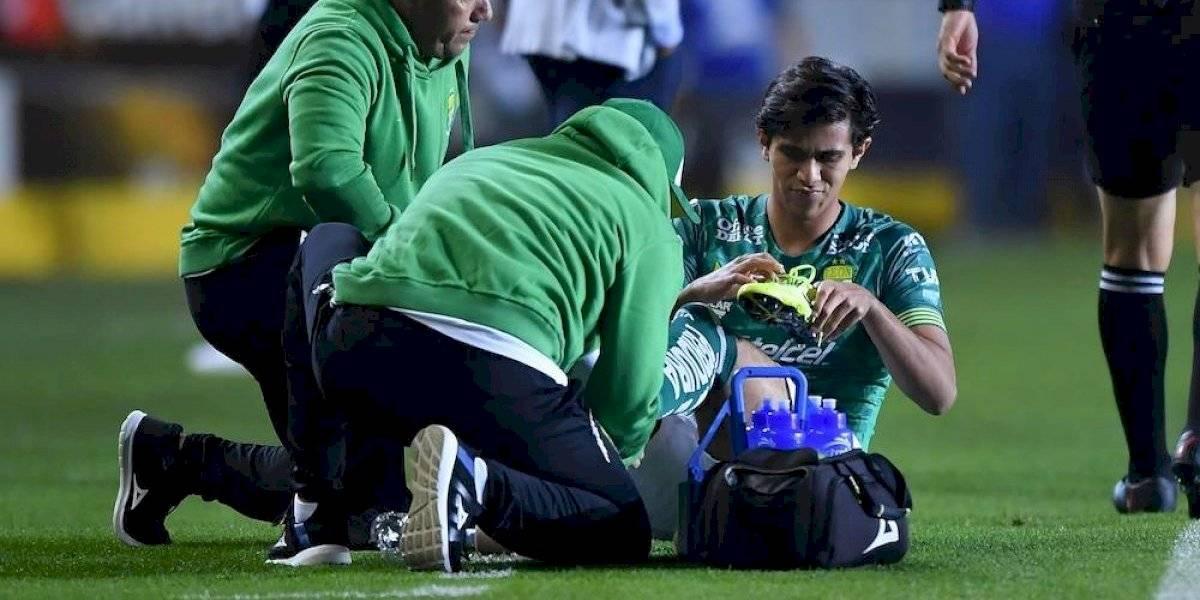 Lesionan a José Juan Macías en el inicio de la liguilla
