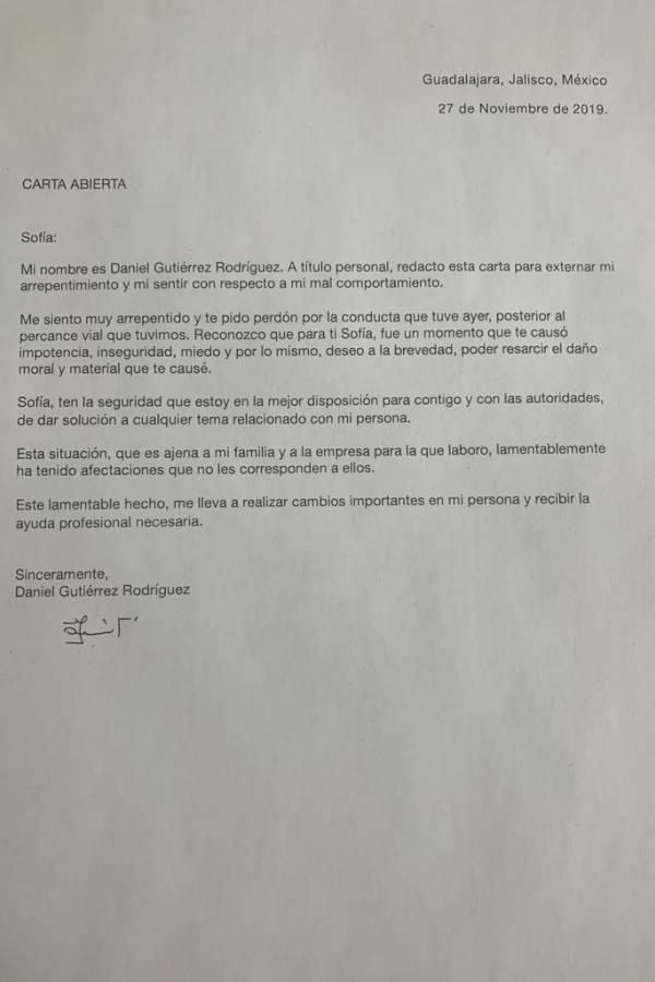 #LordCafé pide disculpas por medio de una carta, dice que buscará ayuda
