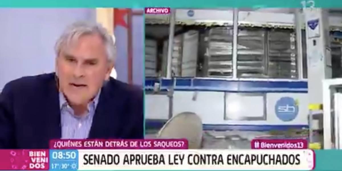 """Y eso que no pidió """"raspado de olla"""": Iván Moreira se lleva las críticas por pedir en """"Bienvenidos"""" que vuelvan los militares a las calles"""