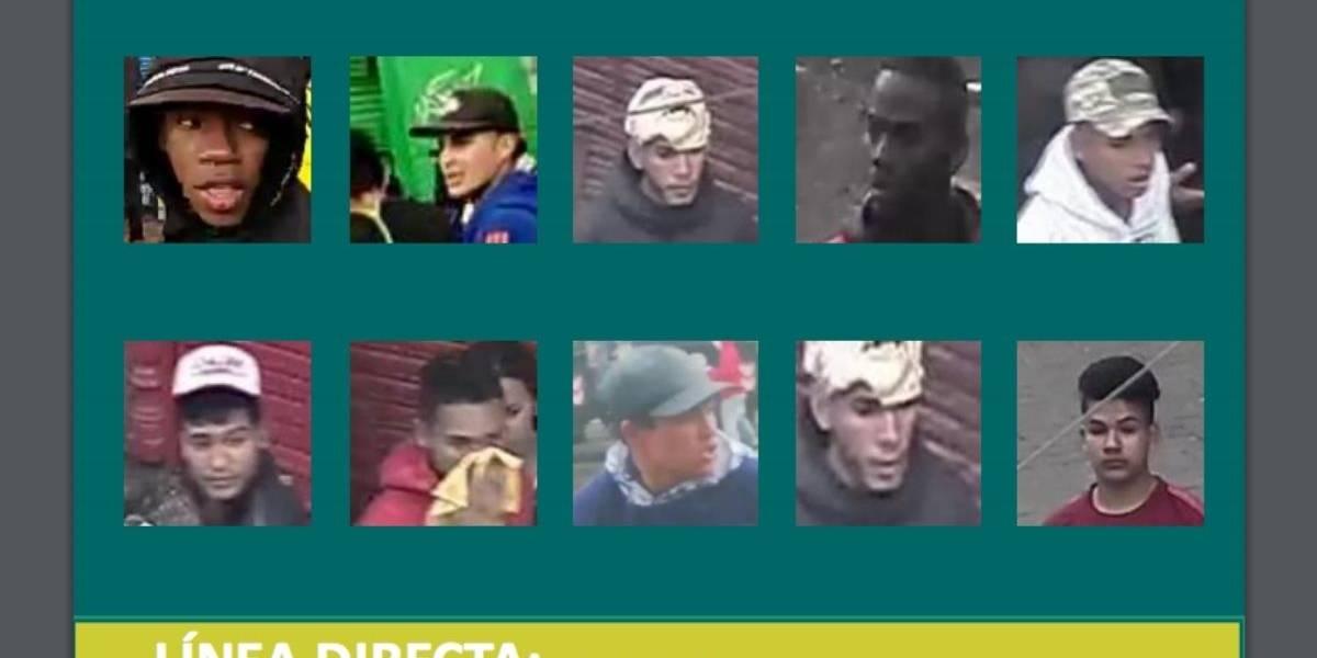 Policía lanzó cartel de las personas más buscadas por vandalismo