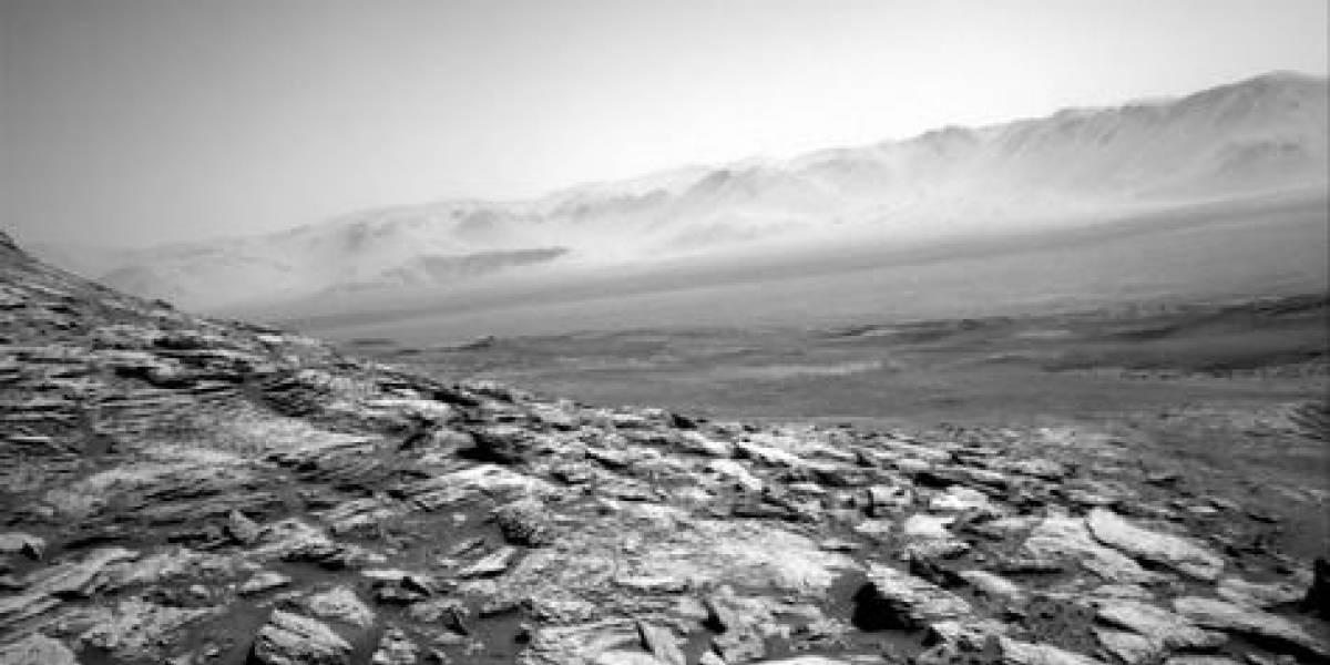 La belleza del horizonte de Marte