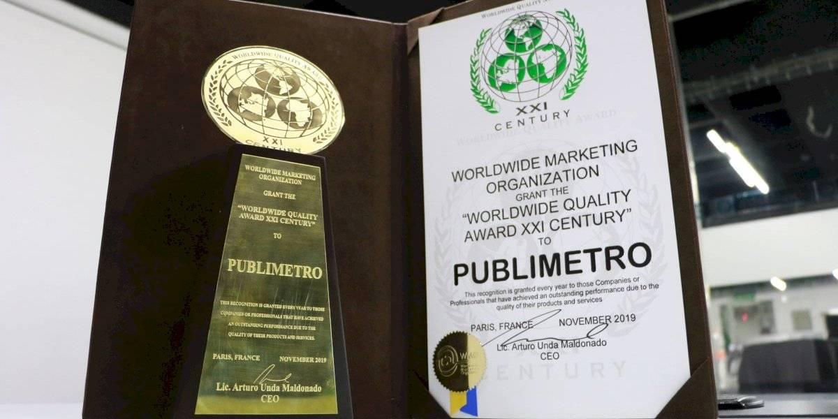 Reconoce la WMO a Publimetro por el prestigio de sus productos