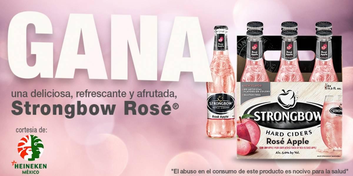 Gana una deliciosa,refrescante y afrutada Strongbow Rosé®