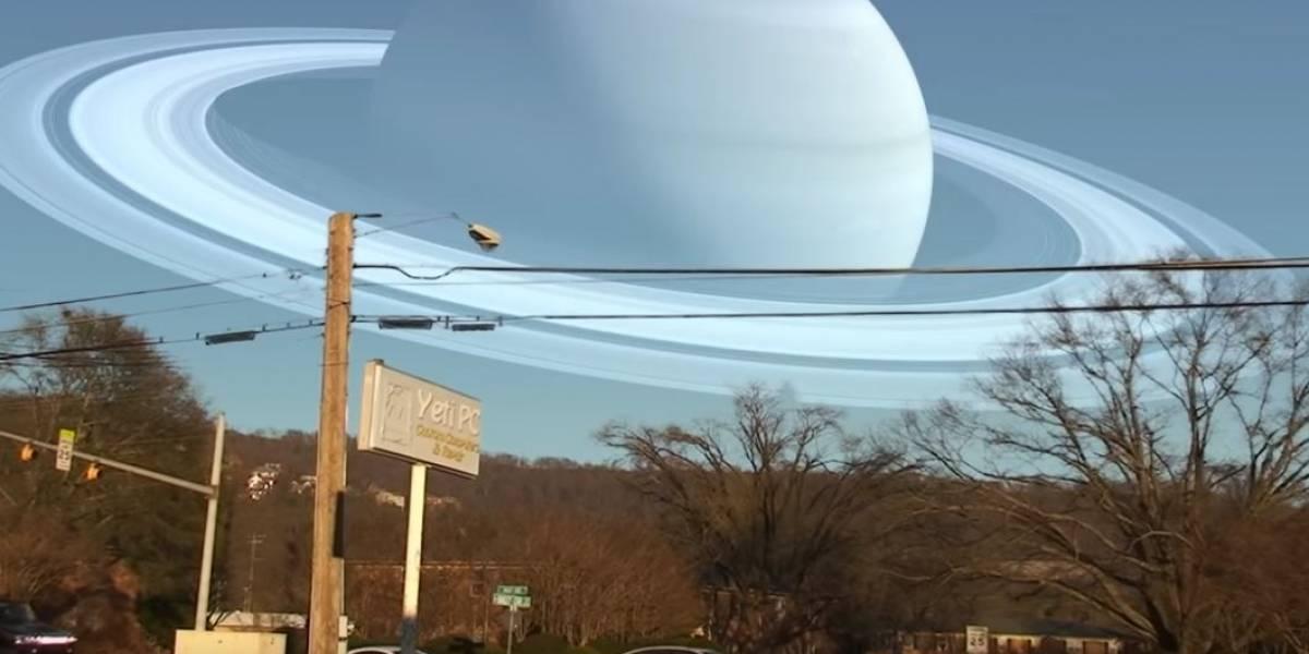 Crean insólitos vídeos de planetas que sustituyen la vista a la Luna o al Sol