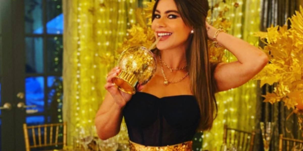 Hasta la mascota de Sofía Vergara bailó en la celebración de la cena de Acción de Gracias