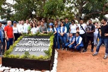 Inauguración del sistema de conducción de agua en el ETCR de Tierra Grata. FAO