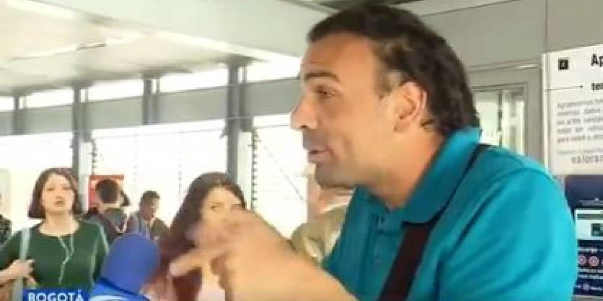 Ciudadano trató de mentiroso a Juan Diego Alvira en trasmisión en vivo de Noticias Caracol