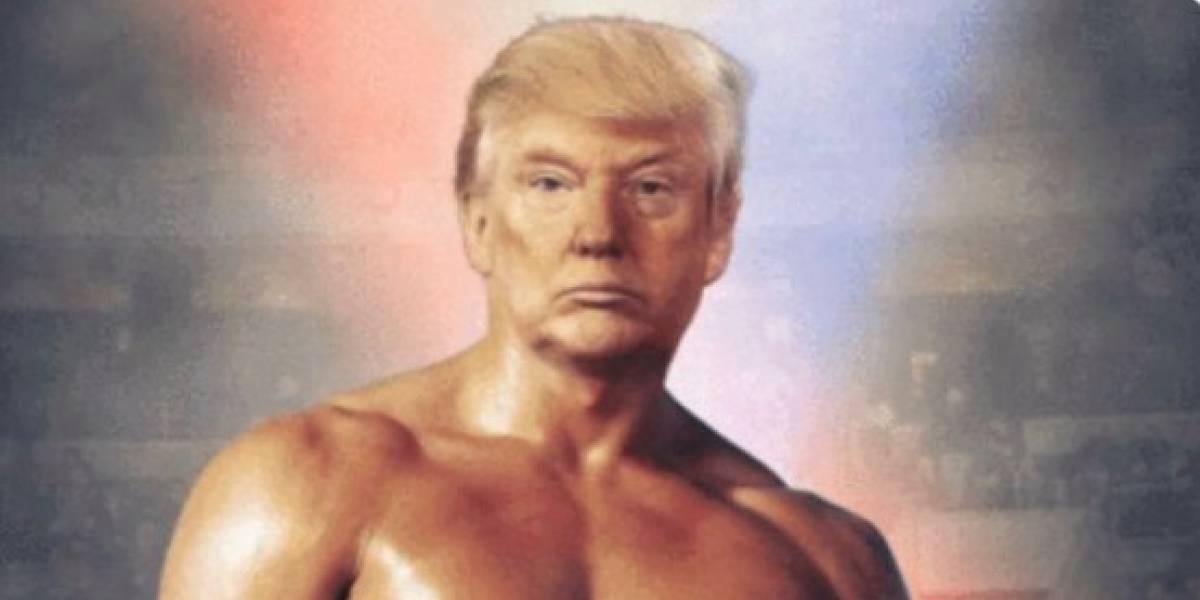 Trump tuitea un fotomontaje de su cara con el cuerpo de Rocky Balboa