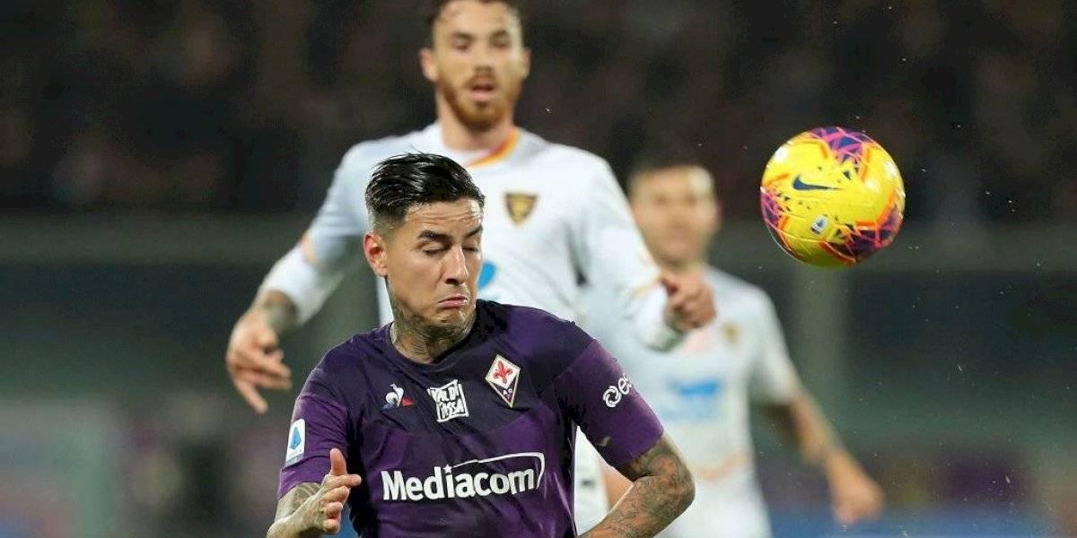 Fiorentina de Erick Pulgar cayó ante Lecce y acumuló cuatro partidos sin conocer la victoria en la Serie A