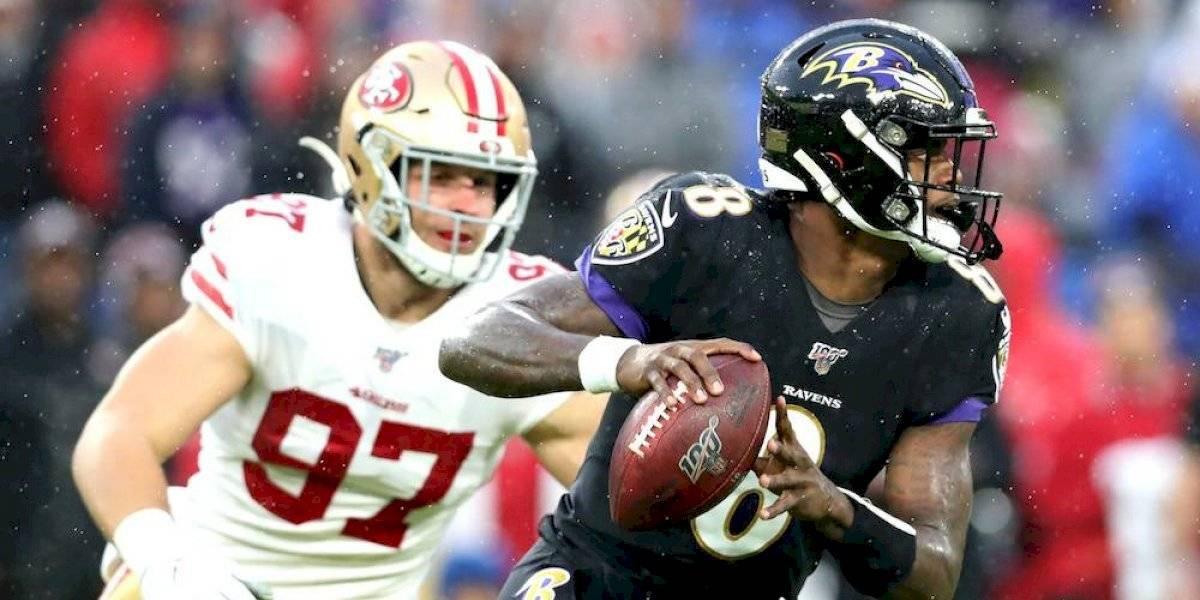 Lamar Jackson sigue imparable y condujo octavo triunfo de Ravens