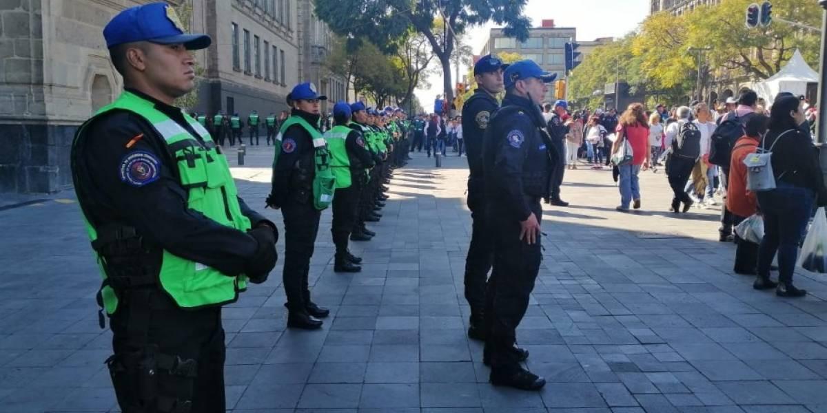 Más de 10 mil policías vigilarán la CDMX para evitar robo de aguinaldo