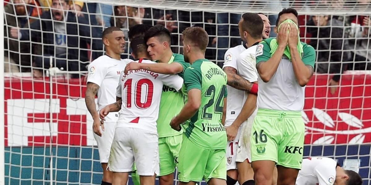 Sevilla, sin Chicharito, vence al Leganés de Javier Aguirre