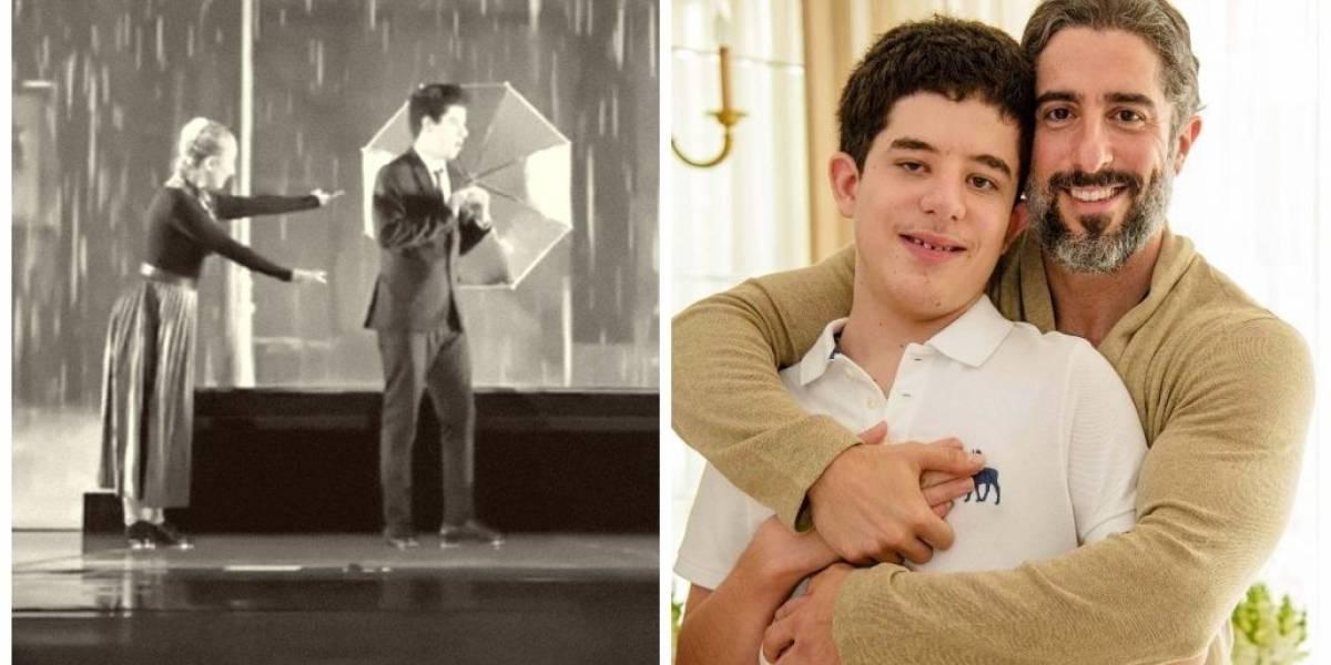 Filho emociona Marcos Mion ao dançar 'Singin' in the Rain' em teatro lotado