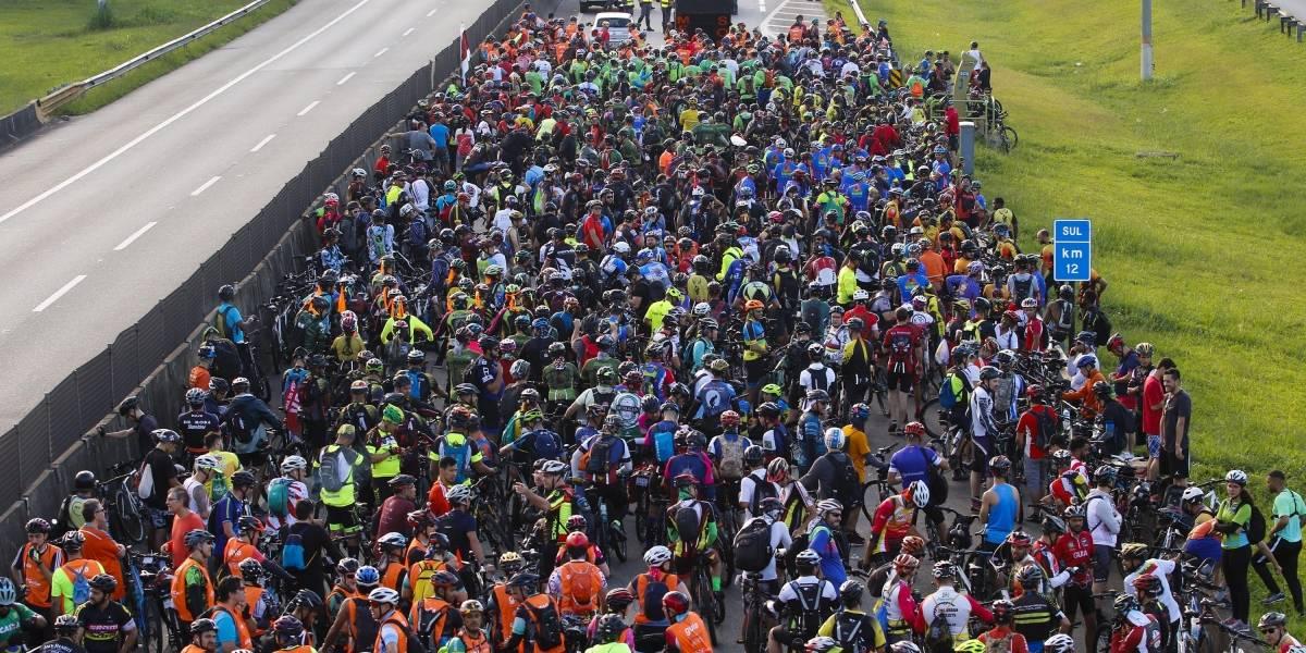 Pedal Anchieta: 40 mil ciclistas tomam a Serra do Mar