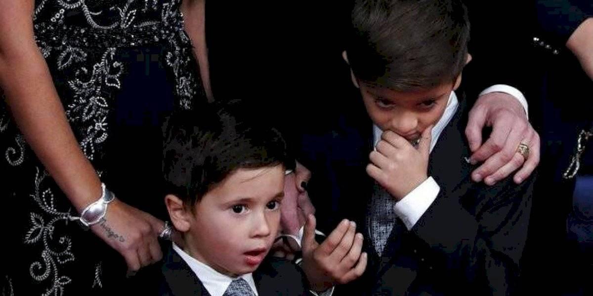 Hijos de Messi le roban protagonismo a su papá en el Balón de Oro
