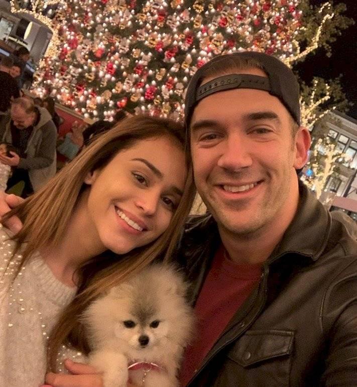 Yanet García y su novio