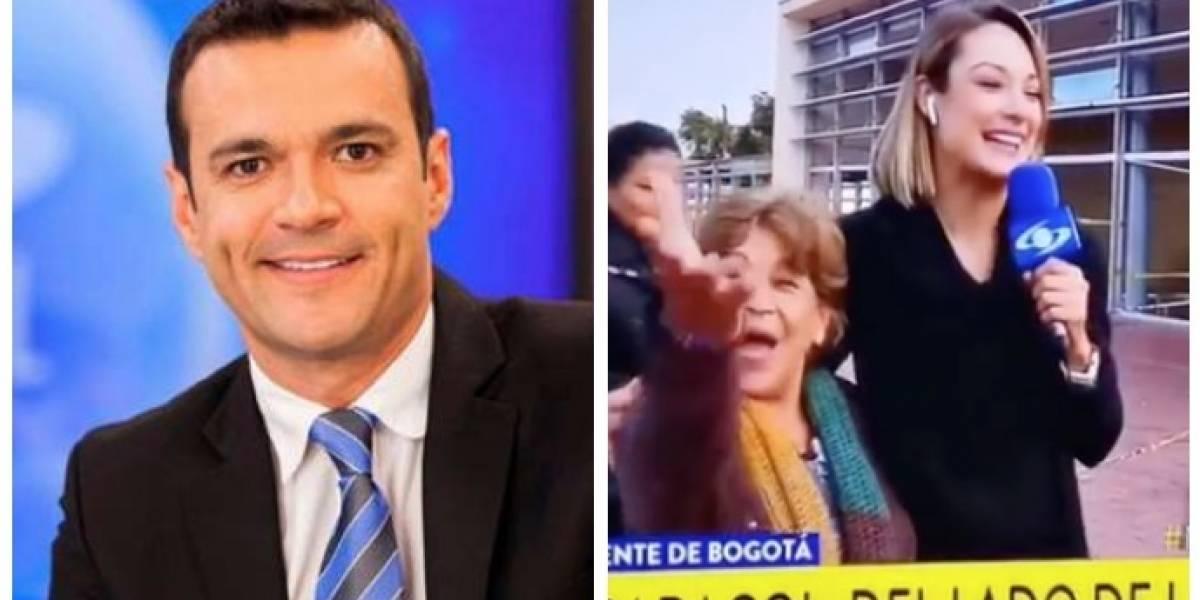 Juan Diego Alvira busca a fanática enamorada que interrumpió a Mónica Jaramillo en 'Noticias Caracol'