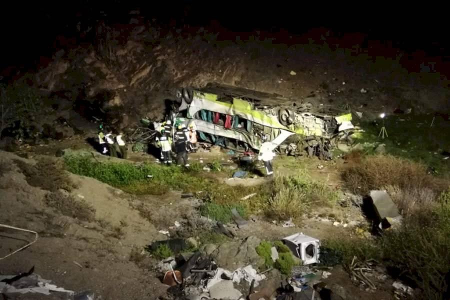Accidente bus Chile