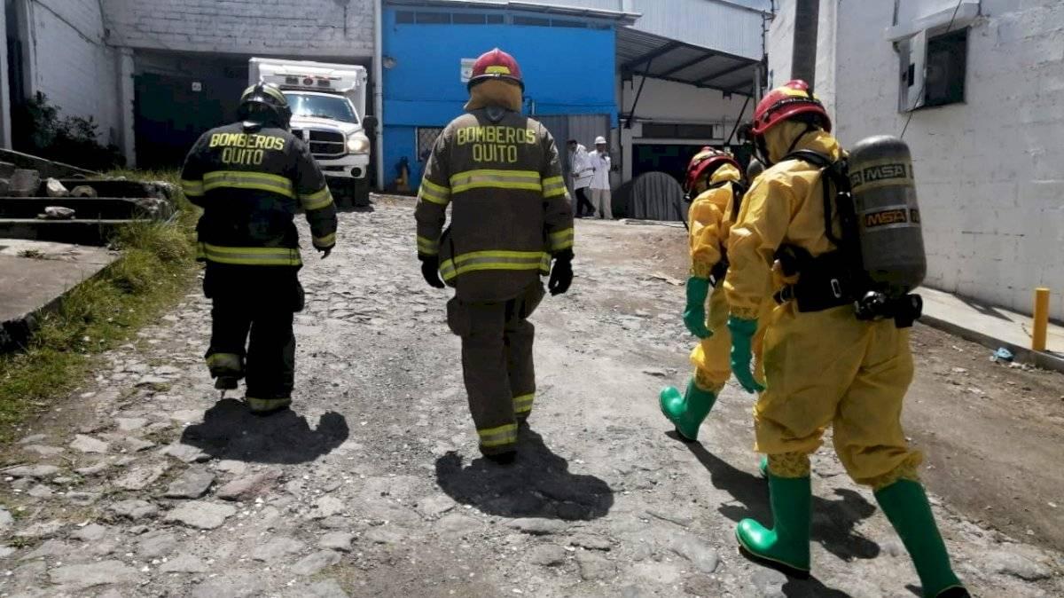 Derrame de químicos en el norte de Quito