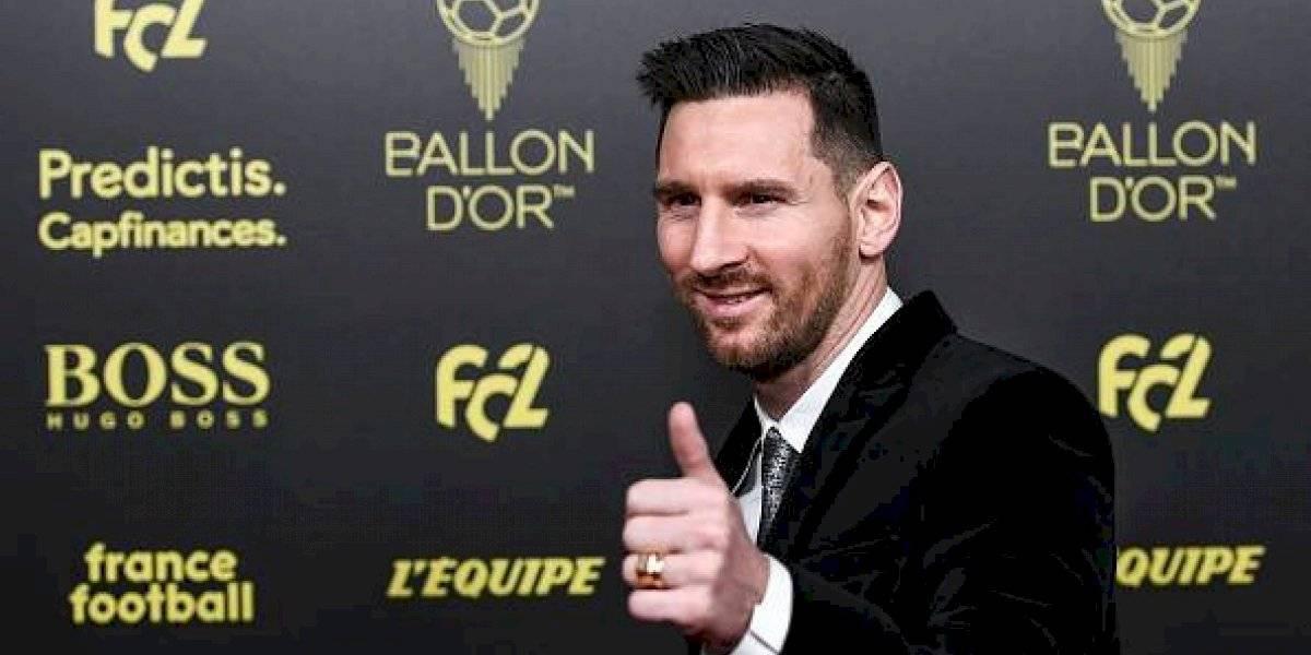 Messi hace historia, gana su sexto Balón de Oro