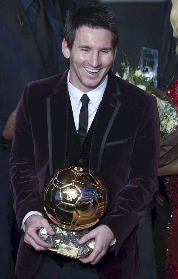 Messi ganador del Balón de Oro en 2011