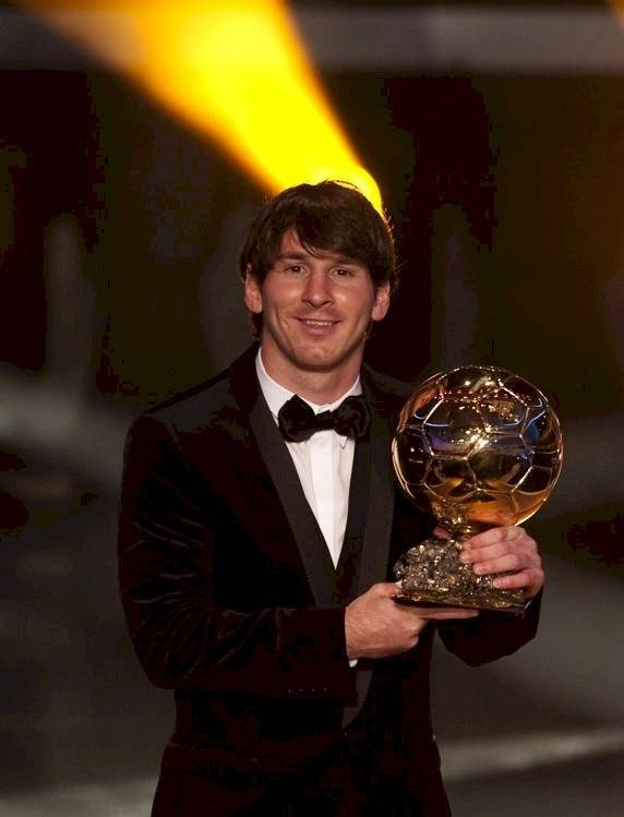 Messi ganador del Balón de Oro en 2010