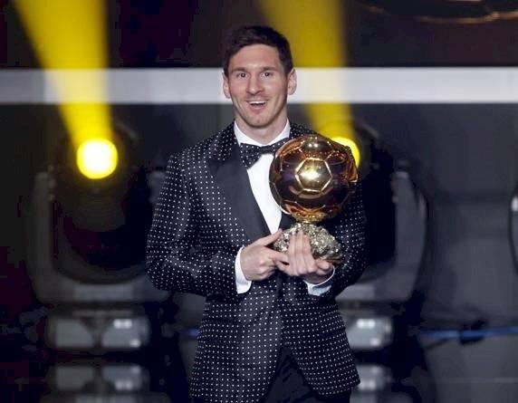Messi ganador del Balón de Oro en 2012