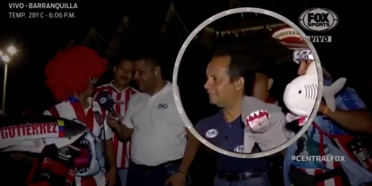 (Video) A periodista que cubría Junior vs América le robaron el celular en vivo y en directo