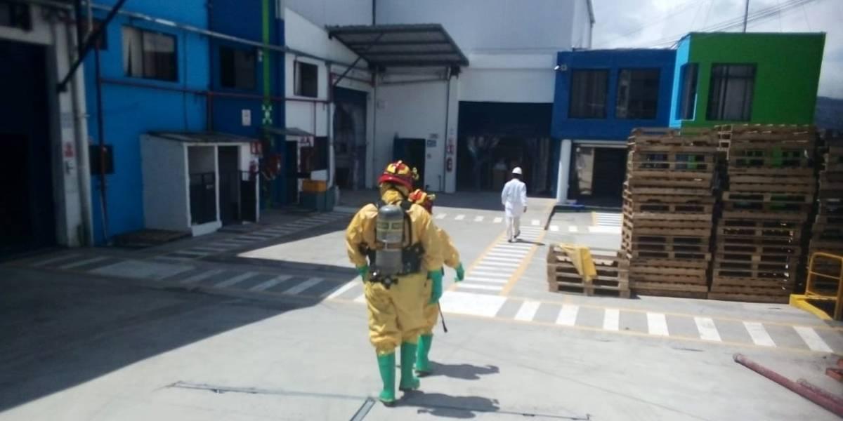 Cuatro afectados por químicos derramado en el norte de Quito
