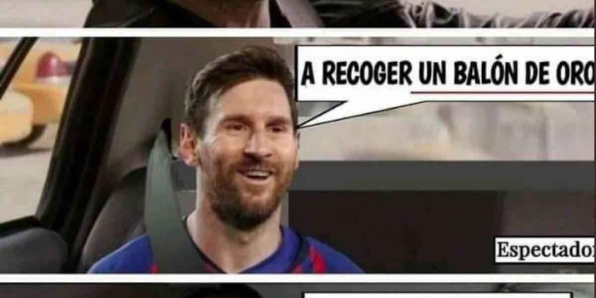 Los mejores memes de Lionel Messi y el Balón de oro 2019
