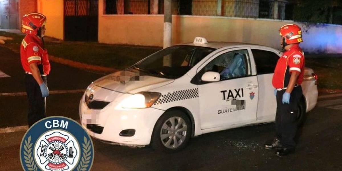 Taxista muere tras ser atacado a balazos en zona 11