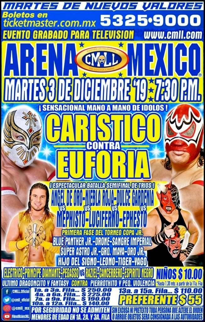 Carteleras de Martes, Viernes y Sábado CMLL