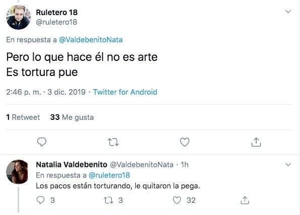 Natalia Valdebenito en Twitter