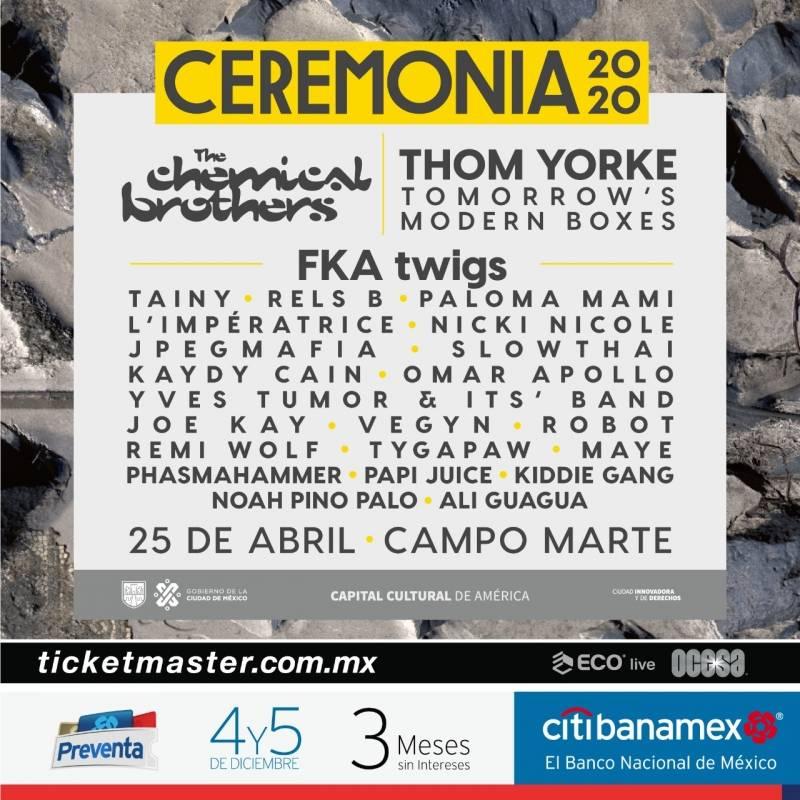 Revelan cartel del Festival Ceremonia 2020; mira aquí todos los detalles