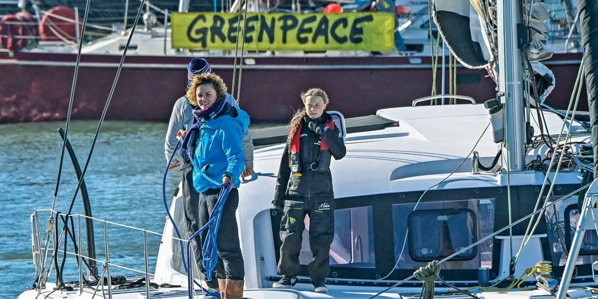 COP25: Greta chega a Lisboa após 3 semanas no Atlântico