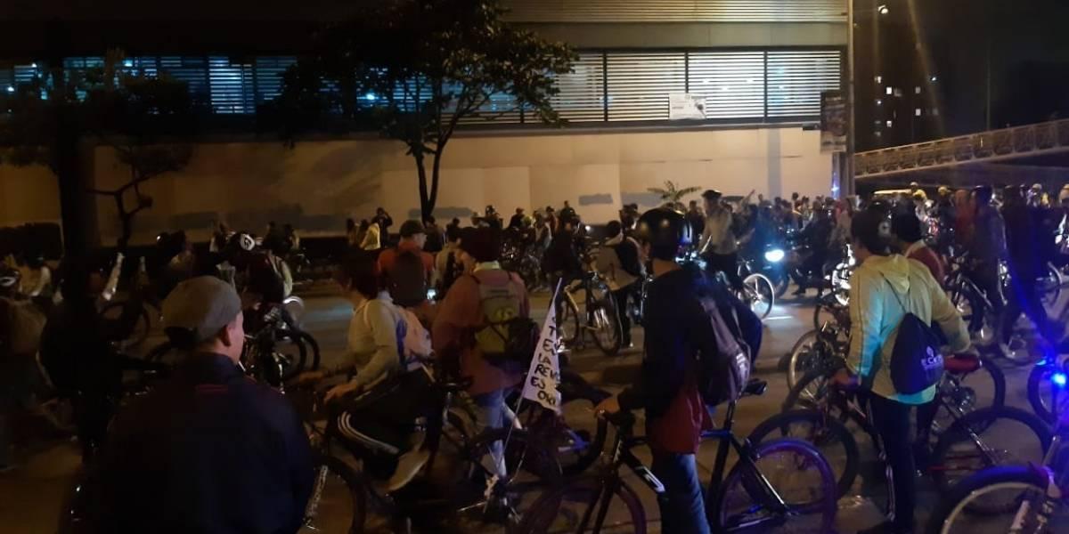 Manifestación de ciclistas se tomó la Avenida NQS de Bogotá