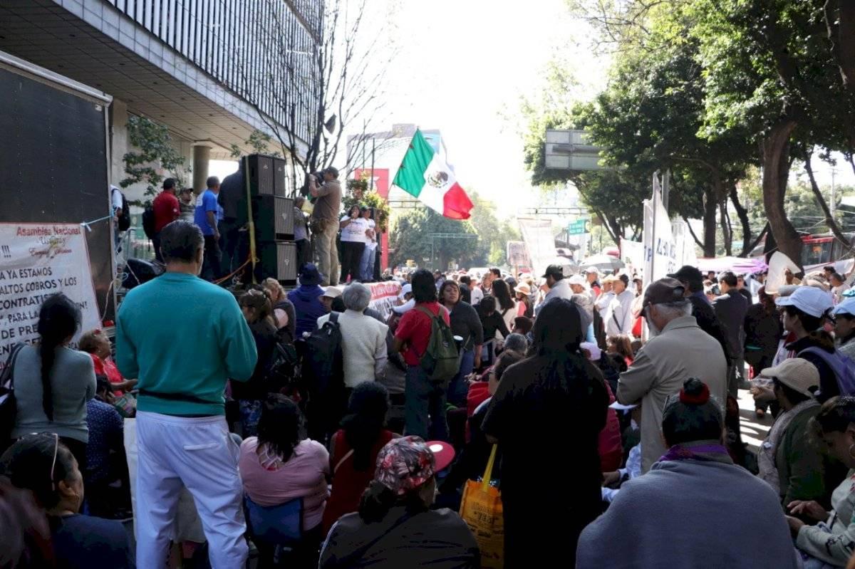 Plantón de protesta Axel Amézquita