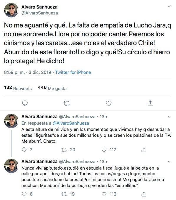 Álvaro Sanhueza contra Lucho Jara