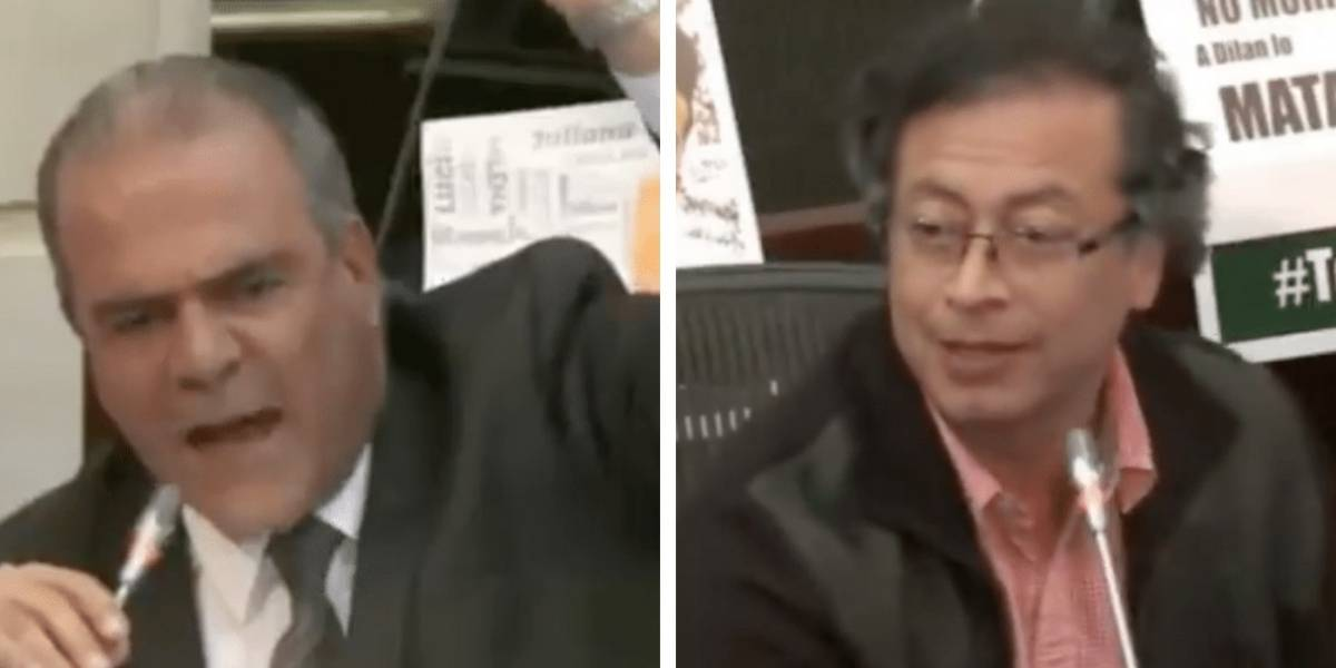 "La 'peinada' de Petro a senador que le gritó que ""sobra en el país"""