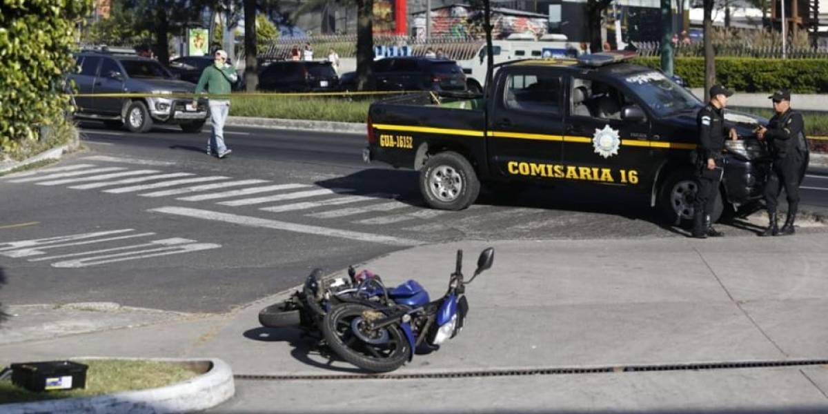 Capturan a implicados en intento de robo de motocicleta en calzada Roosevelt