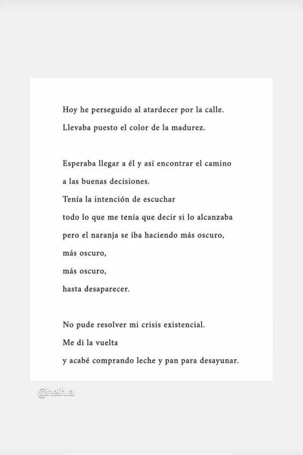 Mina El Hammani regaló un bello poema a sus seguidores en su cuenta de Instagram