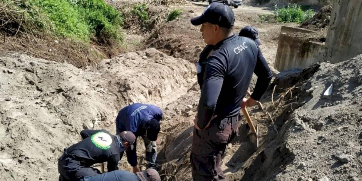 Fiscalía hace levantamiento de restos óseos hallados en Pomasqui