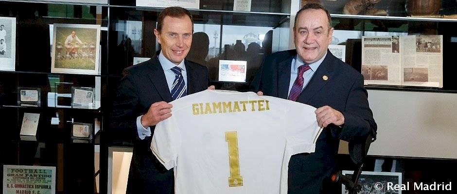 Alejandro Giammattei en Ciudad Real Madrid