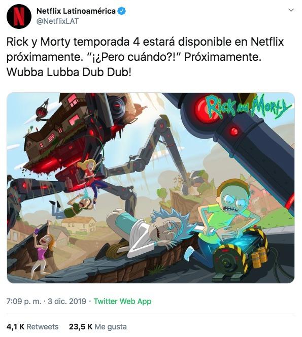 Rick y Morty Netflix