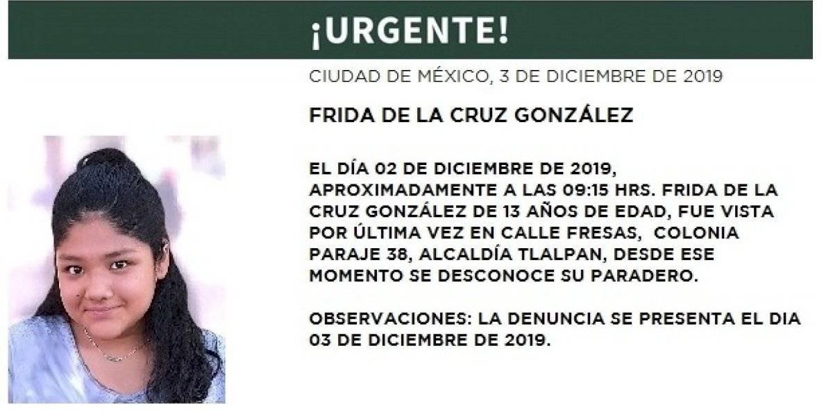 Detienen a 3 menores por presunto secuestro de Frida en Tlalpan