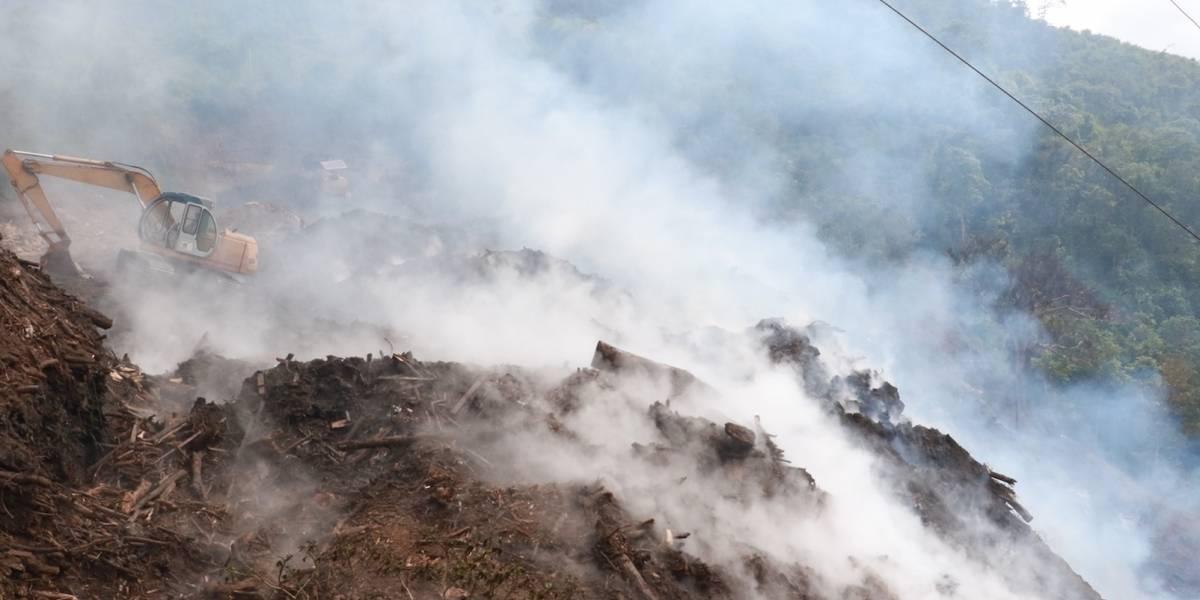 Cayey clama acción gobierno en fuego de grandes proporciones en Barrio Matón Abajo