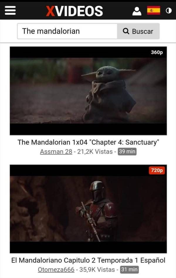 """Baby Yoda: Piratearon """"The Mandalorian"""" y está disponible en XVIDEOS"""